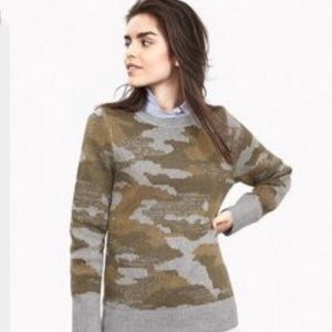Banana Republic camo sweater